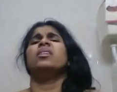 Hot mallu kerala MILF masturbating in bathroom - fucking XXX face reactions