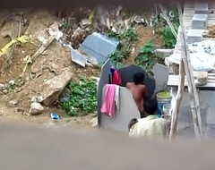 Indian girl ablution out of someone's skin closet