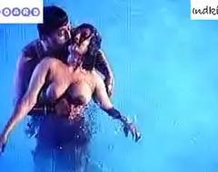 hot desi relative to swimming pool