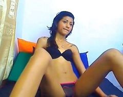 Indian teen wearing black bra and panty 2