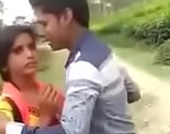 Indian Adorable Girl Full Forcing Kiss Outdoor    Indian Paramours Park