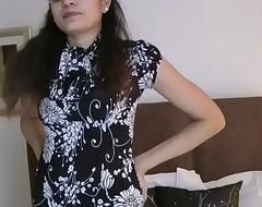 Indian hottie jasmine strippin show from her nook